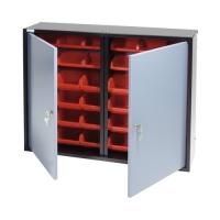 Dulap cutii organizare cu usi si 36 cutii,  800x600x200mm