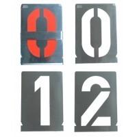 Set sabloane vopsire cifre 0-9 (10 cifre), 10-500 mm