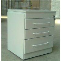 Casetiera cu 3 sertare, blat metal, 500x460x610 mm