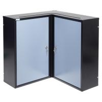 Dulap suspendat pentru colț 600x600x190 mm, cu 2 uși și 4 polițe