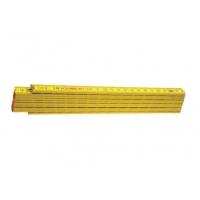 Metru lemn 2 m culoare galben, imbinari din otel