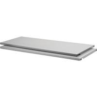Polite metalice raft Dolle Steelboards 800x300 mm, argintii, 2 bucati