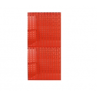 Panou perforat vertical rosu, 500x1000mm