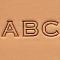 4907-00 Set stante embosare piele ALFABET litere mari de 10mm.